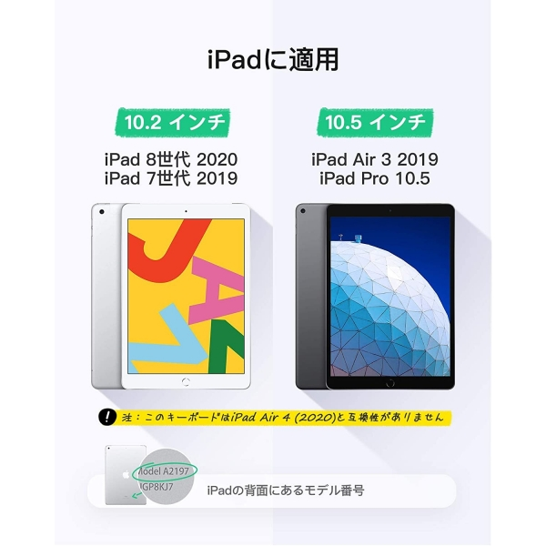 Inateck iPad Aydınlatmalı Klavyeli Kılıf (10.2 inç)-Black