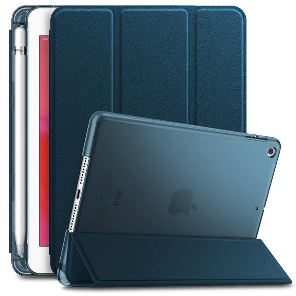 Infiland iPad Mini 5 Kalem Bölmeli Kılıf (7.9 inç)-Navy