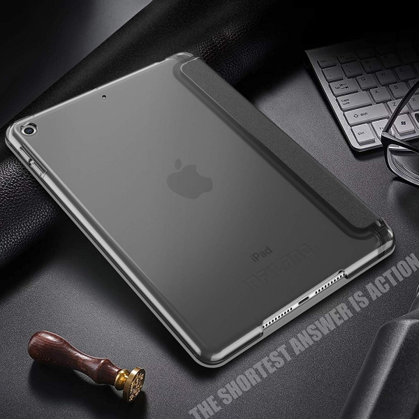 Infiland iPad Mini 5 Kalem Bölmeli Kılıf (7.9 inç)-Grey