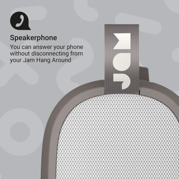JAM Hang Around Su Geçirmez Bluetooth Hoparlör-Gray
