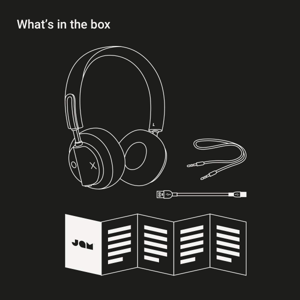 JAM Out There Kulak Üstü Kulaklık-Gray