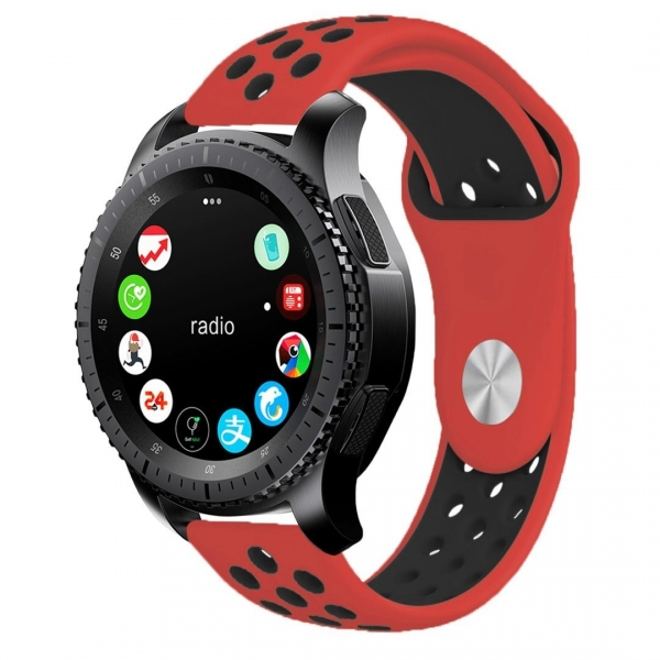 KADES Samsung Gear S3 Soft Kayış (Large)-Red Black