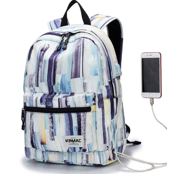 Kinmac Laptop Sırt Çantası (15 inç)-Color Stripe