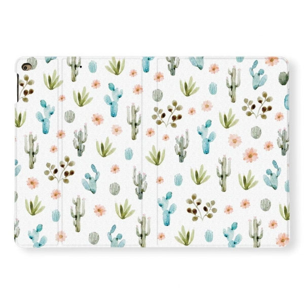 LI-LOVE iPad PU Deri Kılıf (10.2 inç )(7. Nesil)-Cactus