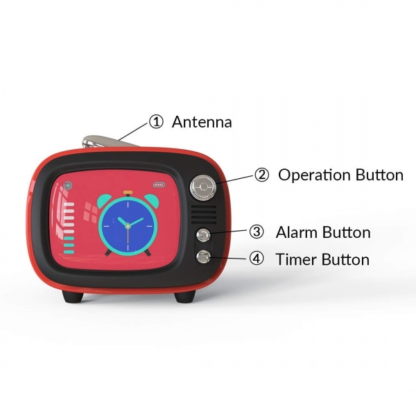Lofree QTV Bluetooth Wireless Hoparlör-Green