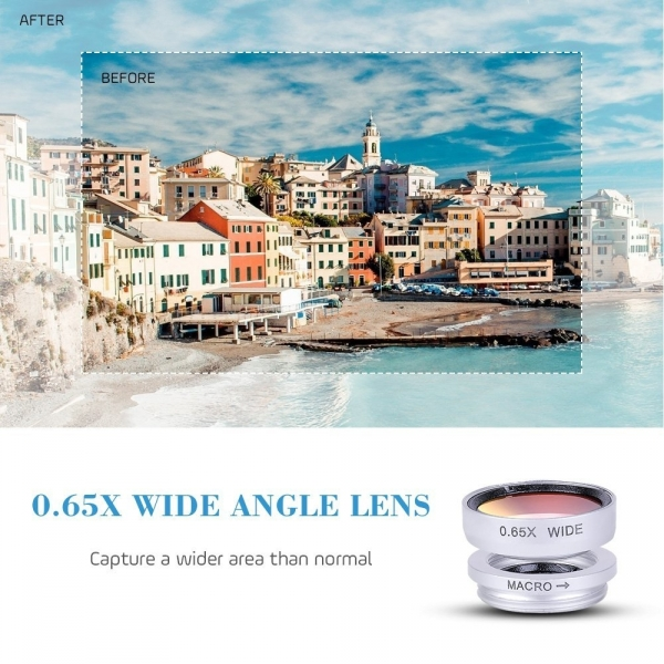 Luxsure 4'ü 1 arada Akıllı Telefon Kamera Lensi