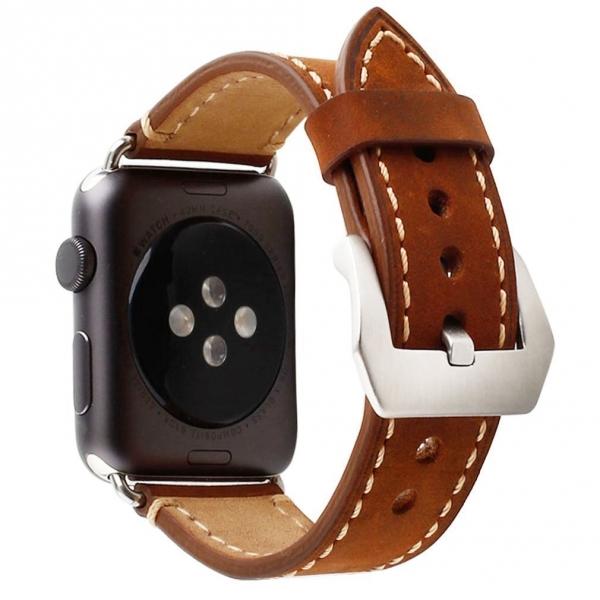 Mkeke Apple Watch Deri Kayış (42mm)-Brown