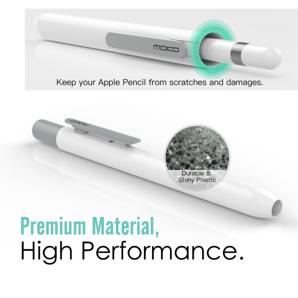MoKo Apple Pencil Kılıf-White Gray