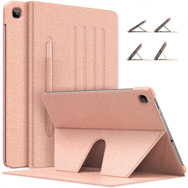 MoKo Galaxy Tab S6 Lite Kalem Bölmeli Kılıf (10.4 inç)-Rose Gold