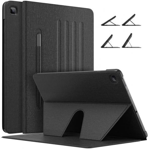 MoKo Galaxy Tab S6 Lite Kalem Bölmeli Kılıf (10.4 inç)-Black