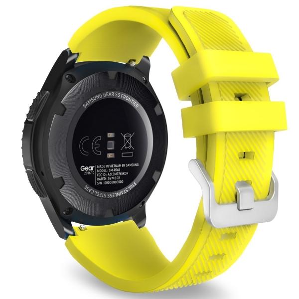 MoKo Samsung Gear S3 Soft Silikon Kayış-Yellow