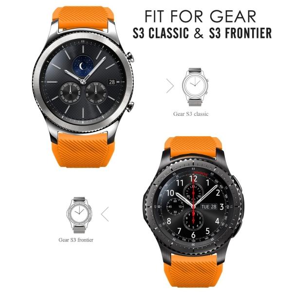 MoKo Samsung Gear S3 Soft Silikon Kayış-Orange