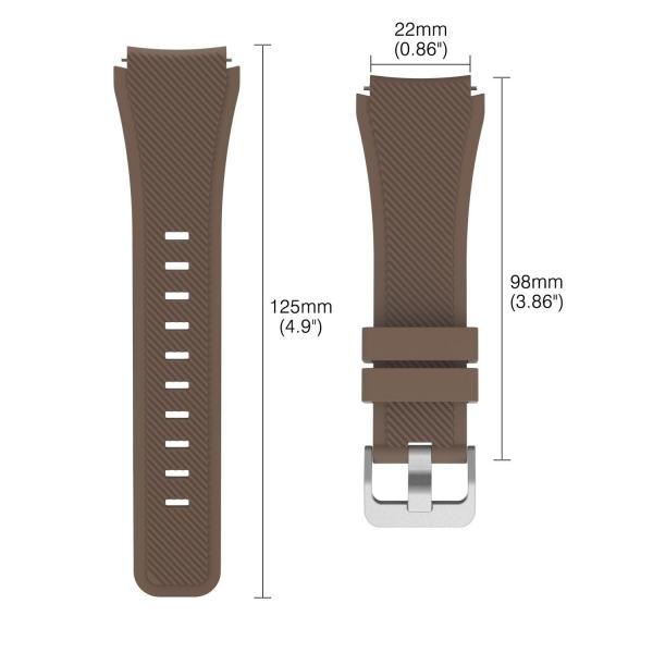 MoKo Samsung Gear S3 Soft Silikon Kayış-Brown