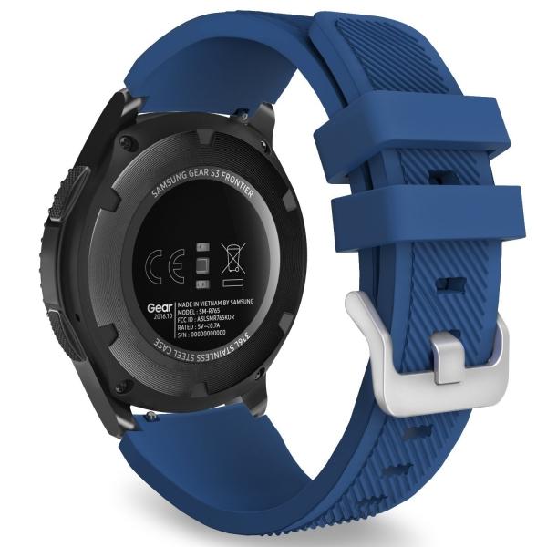 MoKo Samsung Gear S3 Soft Silikon Kayış- Dark Blue