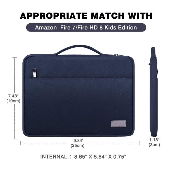 MoKo Tablet Çantası (8 inç)-Navy