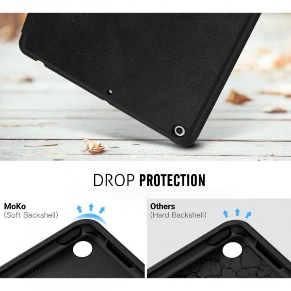 MoKo iPad Kalem Bölmeli Kılıf (10.2 inç)(7.Nesil)-Black
