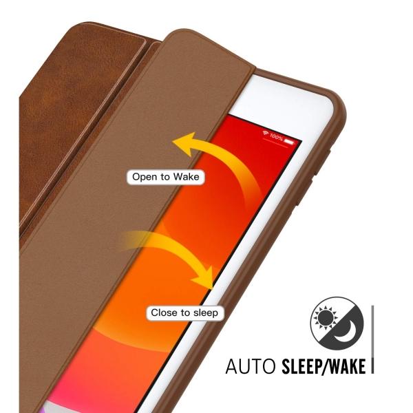 MoKo iPad Kalem Bölmeli Kılıf (10.2 inç)(7.Nesil)-Brown