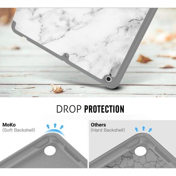 MoKo iPad Kalem Bölmeli Kılıf (10.2 inç)(7.Nesil)-Marble