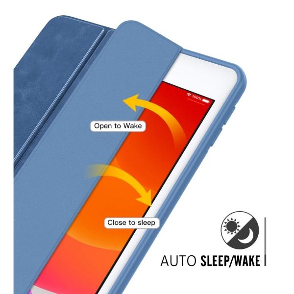 MoKo iPad Kalem Bölmeli Kılıf (10.2 inç)(7.Nesil)-Blue