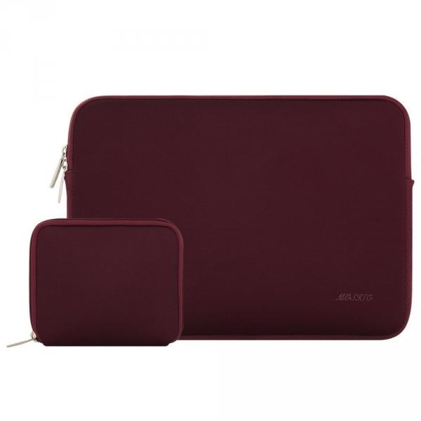 Mosiso Macbook 15 inç Su Geçirmez Çanta-Wine Red