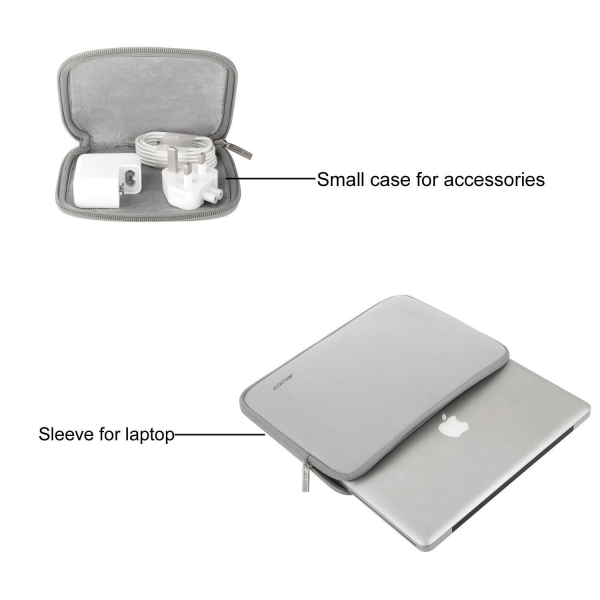 Mosiso Macbook 15 inç Su Geçirmez Çanta-Gray