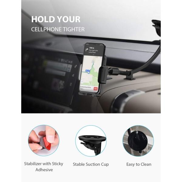 Mpow 033 Araç İçin Telefon Tutucu-Grey
