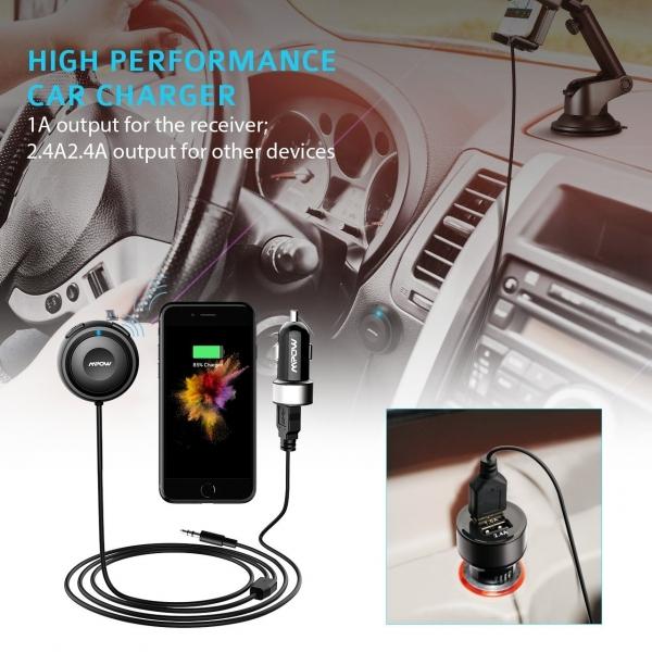 Mpow Bluetooth Alıcı, Araç Şarjı ve İzolatör
