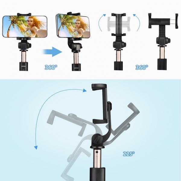 Mpow Bluetooth Selfie Çubuğu/Tripod