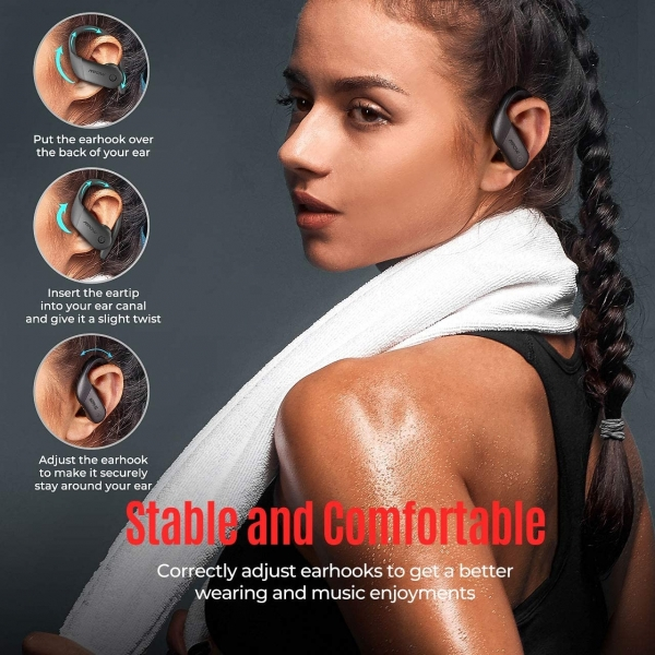 Mpow Flame Lite Bluetooth Kancalı Kulaklık-Black