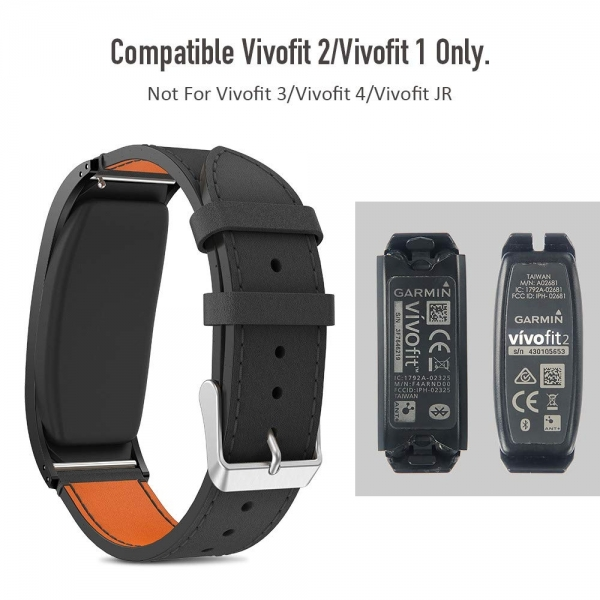 NotoCity Garmin Vivofit 2 Deri Kayış-Black