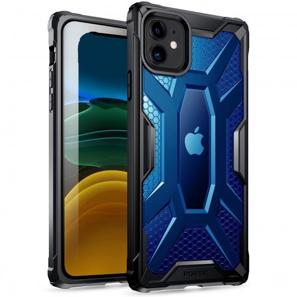 Poetic Apple iPhone 11 Affinity Serisi Kılıf (MIL-STD 810G)-Blue