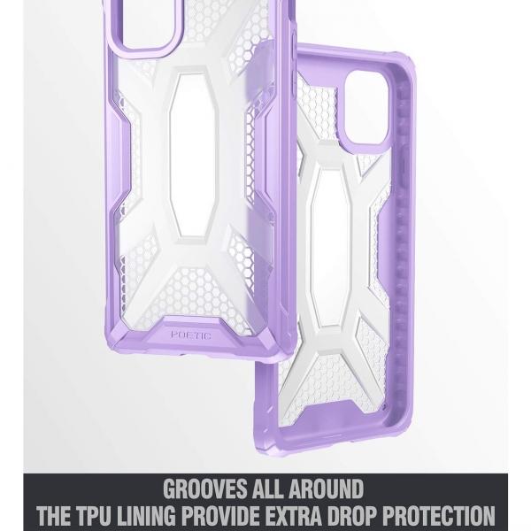 Poetic Apple iPhone 11 Affinity Serisi Kılıf (MIL-STD 810G)-Purple