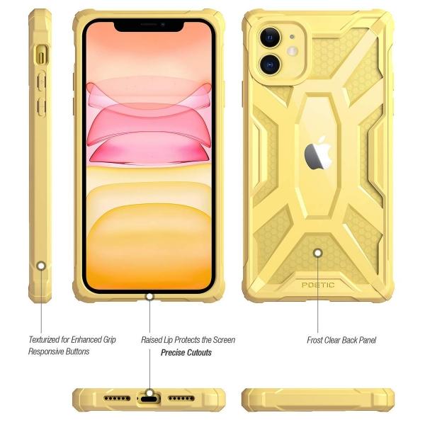 Poetic Apple iPhone 11 Affinity Serisi Kılıf (MIL-STD 810G)-Yellow