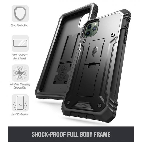 Poetic iPhone 11 Pro Max Revolution Serisi Kılıf (MIL-STD-810G)-Black