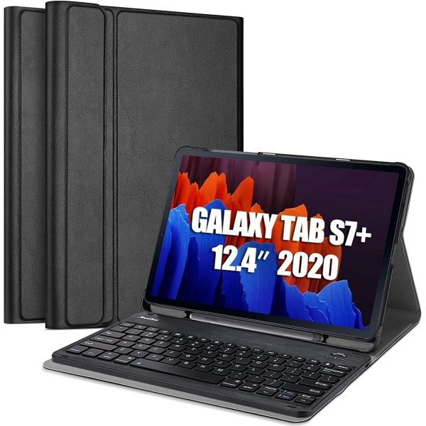 ProCase Galaxy Tab S7 Plus Klavyeli Kılıf (12.4 inç)