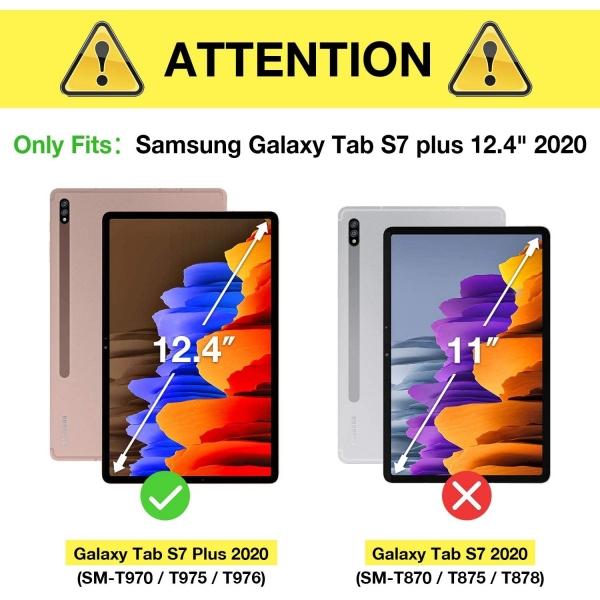 ProCase Galaxy Tab S7 Plus Kılıf (12.4 inç)-Black