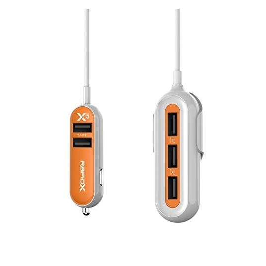RapidX X5 USB Araç Şarj Cihazı-Orange