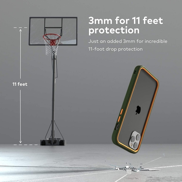 RhinoShield iPhone 12 Pro Max CrashGuard NX Bumper Kılıf (MIL-STD-810G)-White