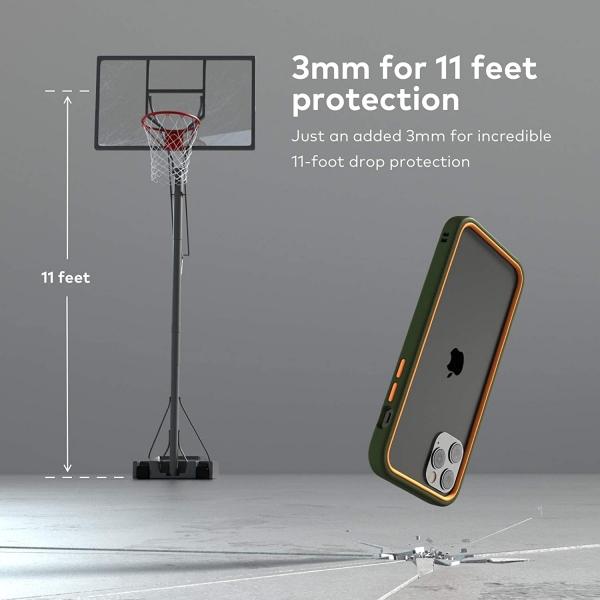 RhinoShield iPhone 12 Pro Max CrashGuard NX Bumper Kılıf (MIL-STD-810G)-Red