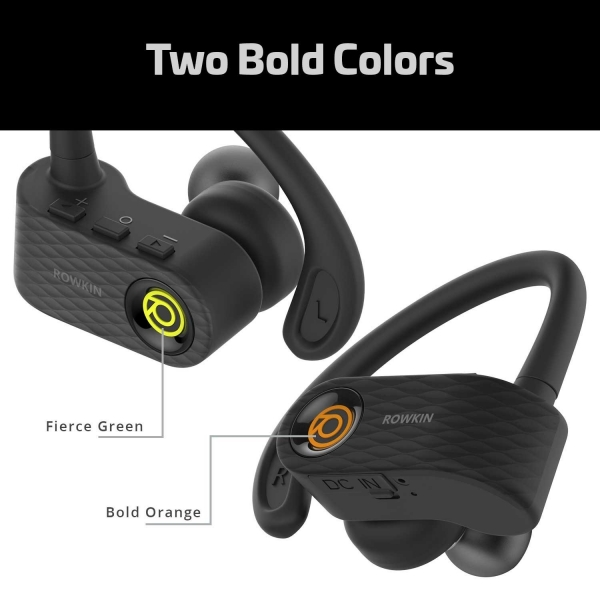 Rowkin Surge True Kablosuz Kancalı Kulaklık-Green
