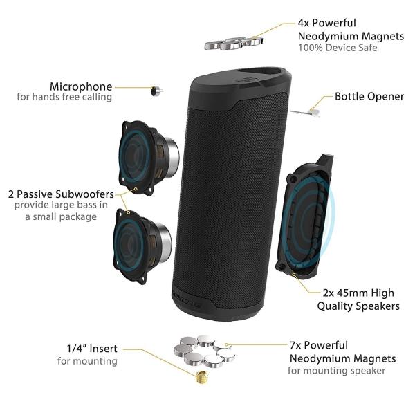 SCOSCHE BoomBottle MM Su Geçirmez Bluetooth Hoparlör-Black