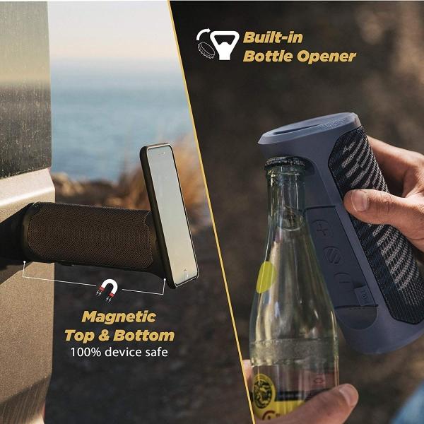 SCOSCHE BoomBottle MM Su Geçirmez Bluetooth Hoparlör-Black Hatch