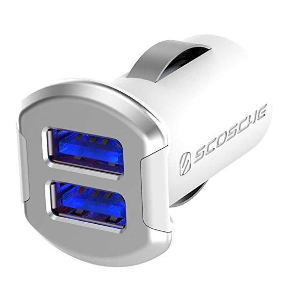 SCOSCHE ReVolt Çift Bağlantı Noktalı Araç Şarj Cihazı-White
