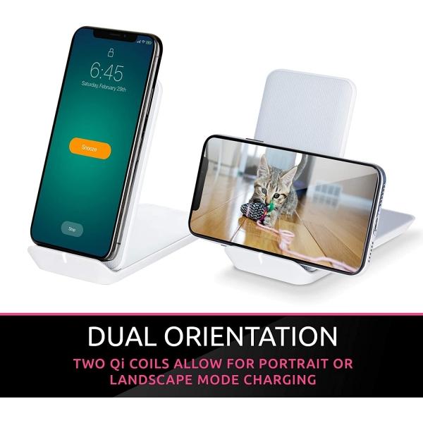 SMPL Qi Sertifikalı 10W Kablosuz Şarj Standı-White