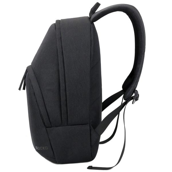 SOCKO Hafif Laptop Sırt Çantası (15.6 inç)-Black