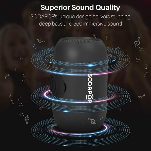 SODAPOP Kablosuz Taşınabilir Bluetooth Hoparlör-Black