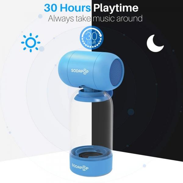 SODAPOP Kablosuz Taşınabilir Bluetooth Hoparlör-Blue