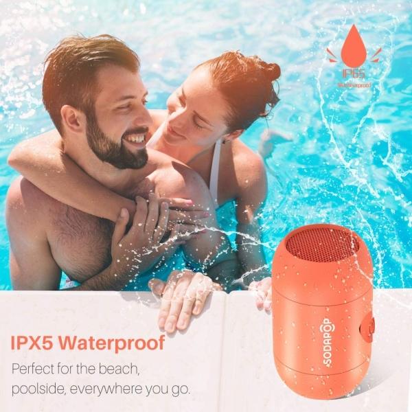 SODAPOP Kablosuz Taşınabilir Bluetooth Hoparlör-Orange