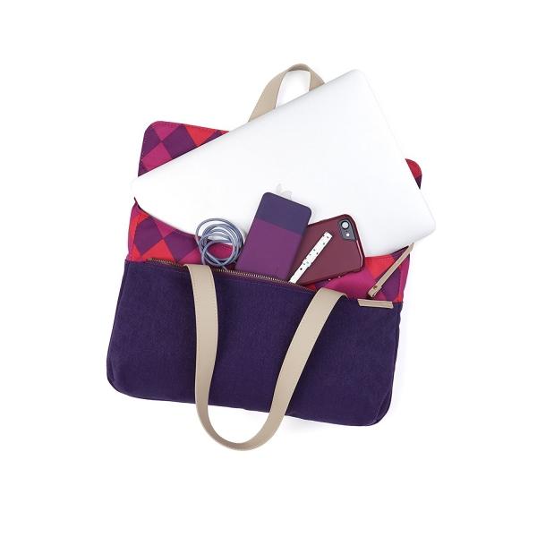 STM Grace Deluxe Laptop Sleeve Çanta (13 inç)-Purple Diamonds