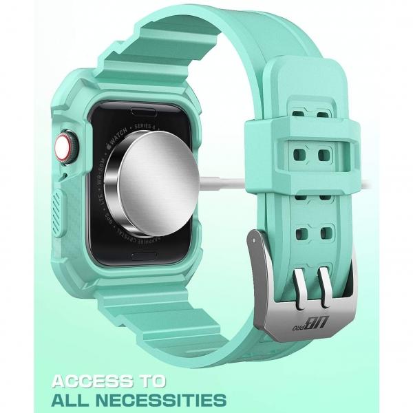 SUPCASE Apple Watch 4 Unicorn Beetle Pro Kılıf (44mm)-MintGreen